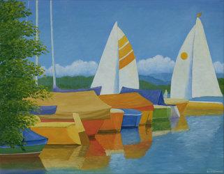 Schiffe auf dem Greifensee