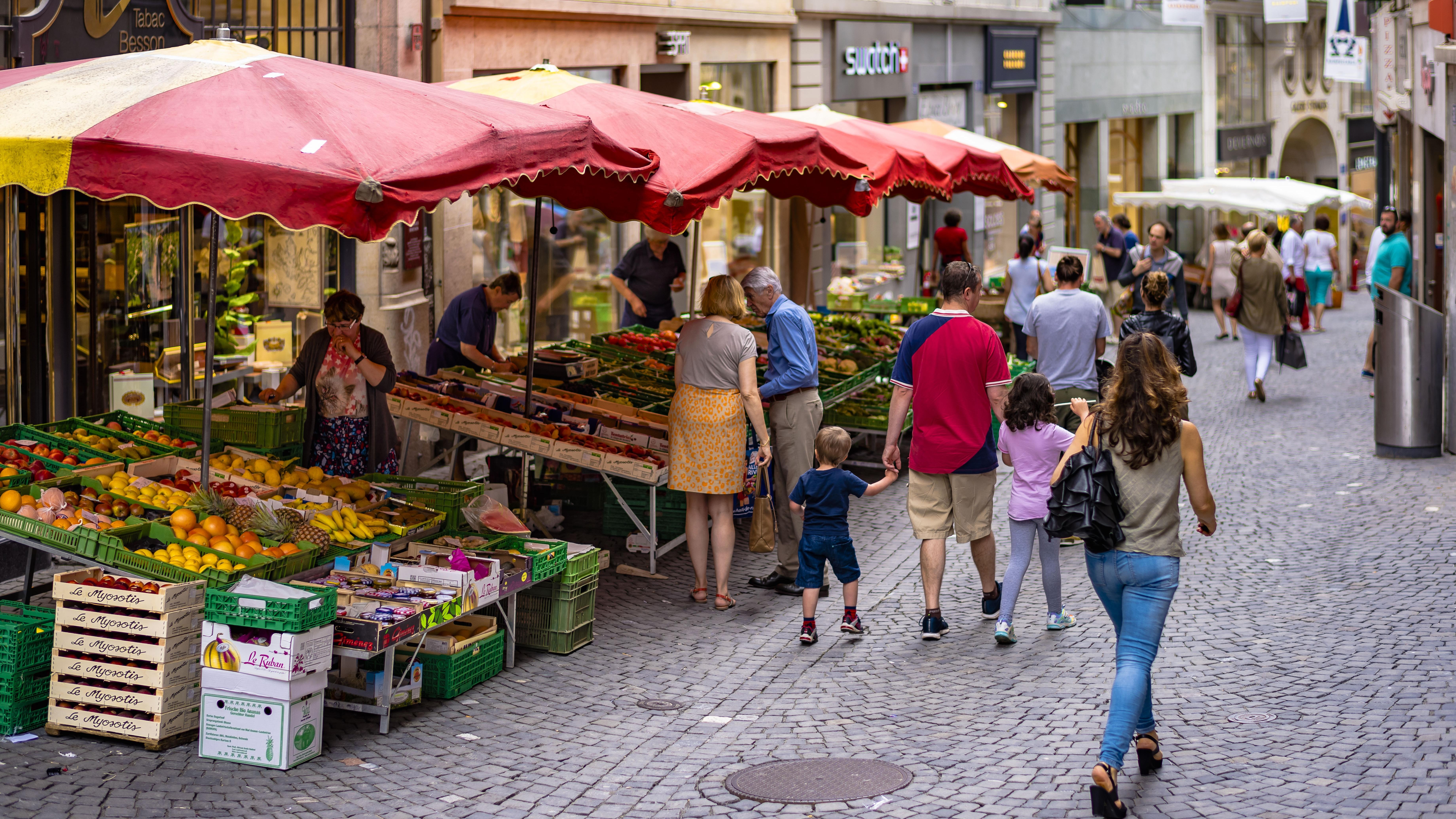 Markt, Lausanne
