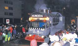 Die Humoria Feusisberg setzte das Motto «Unter Volldampf» perfekt um.