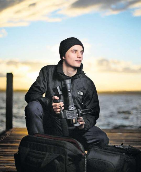 Der 20-jährige Filmemacher Balz Auf der Maur aus Oberwil arbeitete zwei Jahre lang an seinem eindrücklichen Dokumentarfilm «Der Draht zum Tal». (Bild Stefan Kaiser)
