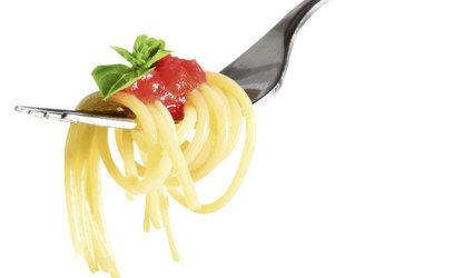 Spaghetti-Plausch mit DJ Tom at work