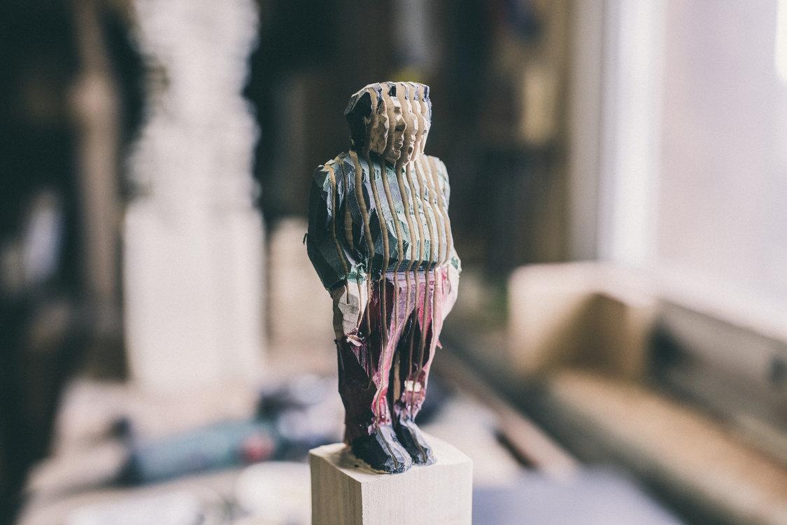 Vielschichtige Persönlichkeit: Ein Werk von Daniel Züsli. (Bild: Philippe Hubler)