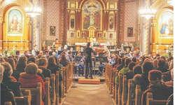 Die Musikgesellschaft Egg spielte auf hohem Niveau und begeisterte die Konzertbesucher. Bild Karl Hensler