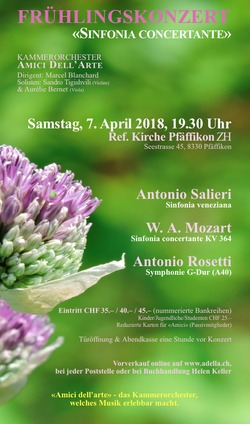 Frühlingskonzert 2018: «Sinfonia concertante»