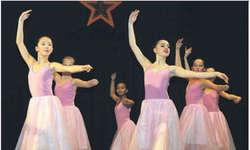 Lehrerin Elena Schnider verstand es auch in diesem Jahr, die Mädchen die unterschiedlichsten Nummern tanzen zu lassen. Damit bot sie den Zuschauern eine abwechslungsreiche und wunderschöne Darbietung. Bild Nathalie Müller