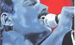 Freddie Mercury, gemalt von Marie-Eve Hofmann-Marsy. Bild Kurt Kassel