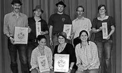 Die vier ersplatzierten Damen und Herren erhielten eine Auszeichnung. Bild Paul Diethelm