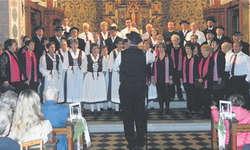 Das Jubiläumskonzert ds Kirchenchors Bennau wusste zu gefallen. Bild Sibylle Steiner