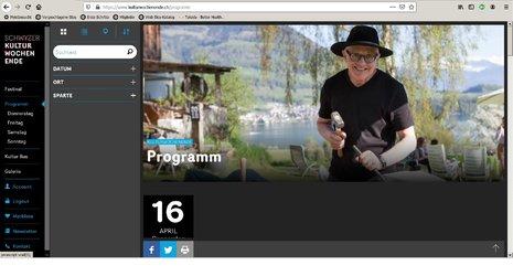 Die Website des Schwyzer Kulturwochenendes wurde überarbeitet und bietet viele neue Funktionen.