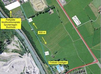 Multifunktionsplatz bei den Sportanlagen Buchholz als Parkraum nutzen