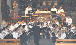 Konzentriert und engagiert zeigen sich die Musikanten der Brass Band Willerzell von ihrer besten Seite. Bild René Steiner