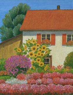 Prachtvoller Garten, Ölfarben