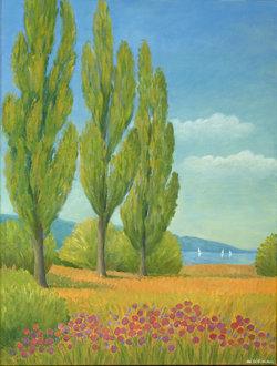 Am Greifensee, Ölfarben
