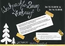 Weihnachtsbaumverkauf Flyer