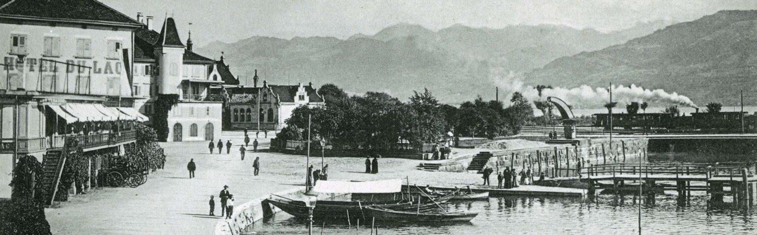 Seebecken und Platz am Fischmarkt