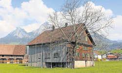 Von aussen unscheinbar verbirgt das Hühnermatthaus in Ibach im Innern einen Kernbau, der über 700 Jahre alt ist. Bild: Christoph Clavadetscher