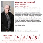 Alexandre Voisard  - Lecture et discussion