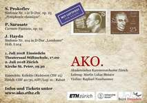 Konzert des Akademischen Kammerorchesters Zürich