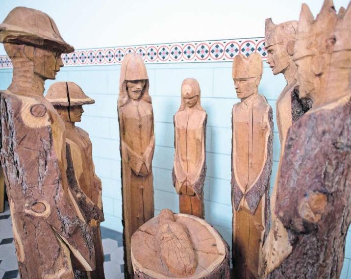 Die «Heilige Familie» von Andreas Hofer ist heuer wieder in der CityKirche aufgestellt. (Bild Maria Schmid)