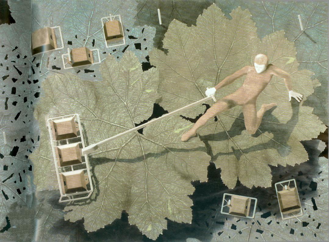 Harold Studer, Ohne Titel, Mischtechnik, 150 x 200 cm, PB