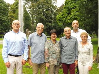 (v. l. n. r.): René Schönfelder, GR, Martin Jenny, Sibylle Riem, Röbi Blei-sch, Martin Bilger HAL, Elsbeth Fischli