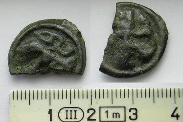 Keltische Münze von der Baarburg. Foto Amt für Denkmalpflege und Archäologie Zug.