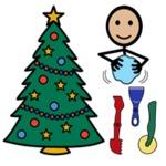 Weihnachts-Geschenke und Dekorationen aus Ton