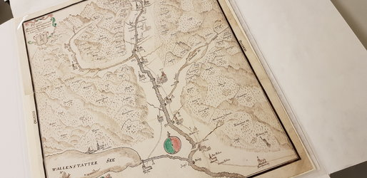 Zeichnung Glarnerland im Landsbuch 1745