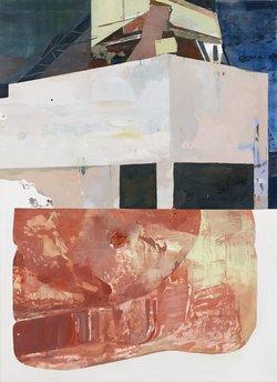 Dimitra Charamandas, Red powder, 2016, Öl auf Leinwand, 200 x 145 cm, Depositum des Kunstvereins Solothurn