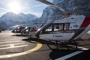 Der Flugplatz Mollis in Glarus Nord ist Standort für gebündelte Helikopterkompetenz. (Bild: Kopter Group)