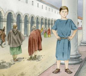 Augusta Raurica - Römische Spiele für Gross und Klein - Nobilianus zeigt seine Spielkiste