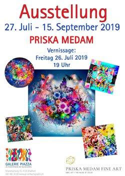 AUSSTELLUNG PRISKA MEDAM ART I GALERIE PIAZZA ALLSCHWIL - 1