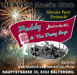 Silvesterparty im Heaven mit Paddy & The Dusty Boys, live