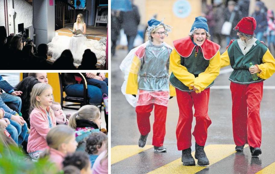Sei es beim Lauschen einer spannenden Erzählung oder bunt verkleidet auf den Strassen und Gassen der Altstadt: Am Märlisunntig ist für Jung und Alt Eintauchen in Fantasiewelten angesagt. (Bilder Maria Schmid)