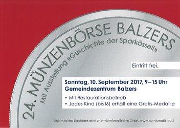 24. Münzenbörse im Fürstentum Liechtenstein