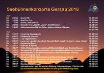 Seebühnenkonzerte Gersau 2018