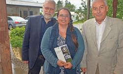 Die Autoren und der Herausgeber: (von links) Carl J. Wiget, Angela Dettling und Jost Schumacher. Bild Jürg Auf der Maur