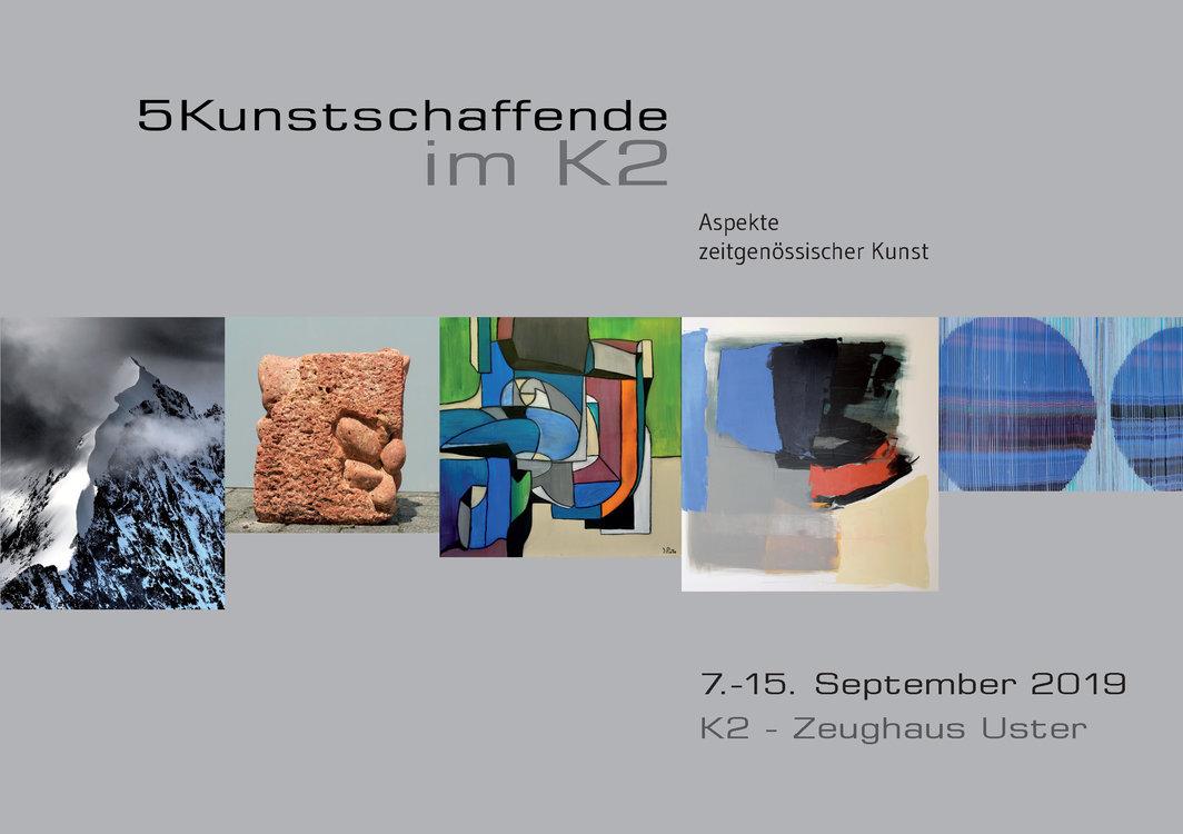 5 Kunstschaffende im K2 - Aspekte zeitgenössischer Kunst