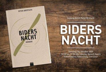 """""""Biders Nacht"""" Lesung von Peter Brotschi - 1"""