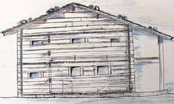 Eine erste Skizze, präsentiert Ende Oktober 2012: So könnte das Niderösthaus dereinst in der Schornen in neu-altem Glanz erstrahlen. Archivbild