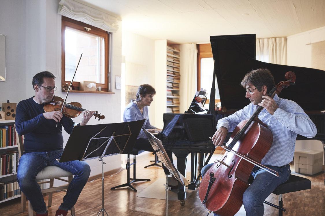 Ensemble Chamäleon bei der Probe. Bild: Philippe Hubler