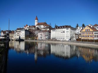 La Ville Thun avec le Chateau et l'Aare