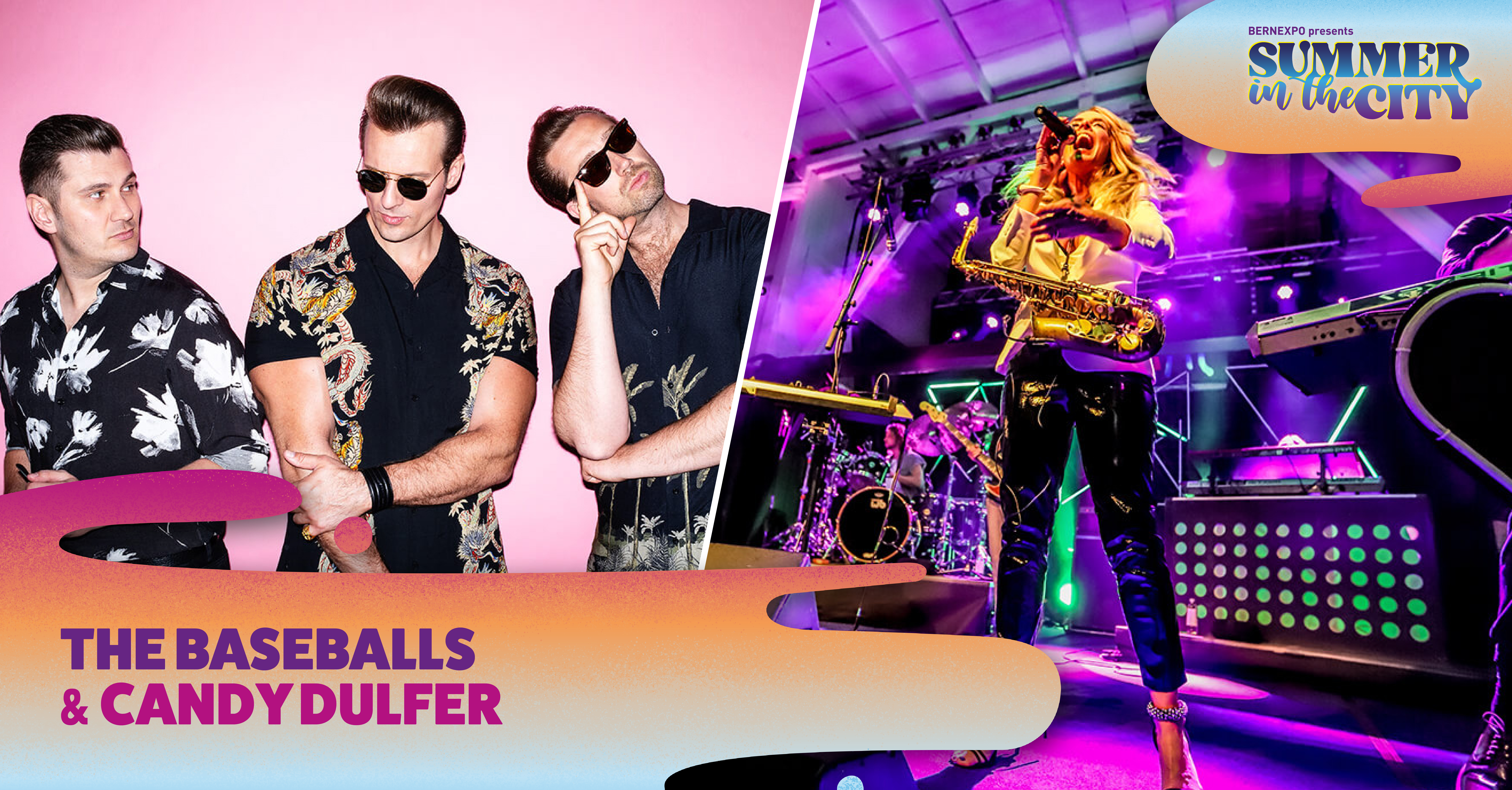 The Baseballs & Candy Dulfer am Summer in the City