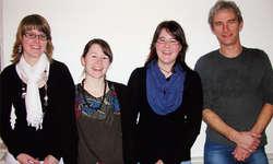 Die vier neuen Mitglieder, die an der GV aufgenommen wurden (von links): Franziska Kälin, Luzia Gyr, Stefanie Gyr und Antoine Michielse. Foto: zvg