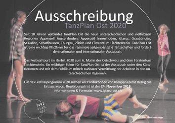 Ausschreibung TanzPlan Ost 2020 - 1