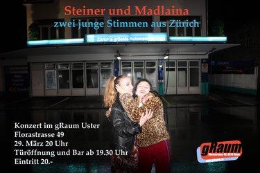 Steiner und Madlaina - zwei junge Stimmen aus Zürich