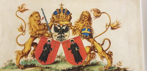 Wappenpyramide im Fahnenbuch Hans Ryff 1616