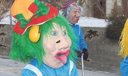 Farbenfroh und lustig: Die unzähligen maskierten Gruppen brachten das Publikum zum Lachen. Bilder Martina Blunschy