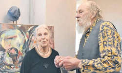 Die sehenswerte Ausstellung mit beeindruckenden Werken von Christina und Claude Vanomsen ist noch bis zum 26. März zur Besichtigung geöffnet. Bild Hans-Ueli Kühni
