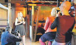 Monique lud zum Vorsingen für die SF-Sendung «Alpenrose». Bild Irene Lustenberger